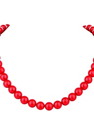 cheap -Women's Pearl Chain Necklace Ladies Bohemian Fashion Boho Pearl Red 45.5 cm Necklace Jewelry For Ceremony Carnival