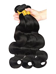 cheap -3 Bundles Brazilian Hair Body Wave Virgin Human Hair Extension Brands Outlet Black Natural Color Human Hair Weaves Gift Hot Sale 100% Virgin Human Hair Extensions / 10A