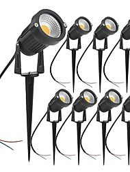 cheap -Outdoor 8PCS 7W LED Landscape Lights Garden Light Outdoor Lighting DC12V/24V Waterproof Pathway Lights Warm White Spotlights with Spike Stand (8 Pack)