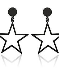 cheap -Women's Drop Earrings Star Ladies Sweet Fashion Earrings Jewelry Gold / Black / Silver For Daily Going out