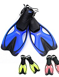 cheap -Diving Fins Swim Fins Long Blade Adjustable Strap Swimming Diving Snorkeling TPR EVA - for Adults Yellow Blue Pink