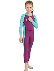 cheap -Girls' Rash Guard Dive Skin Suit Spandex Diving Suit SPF30 UV Sun Protection Quick Dry Full Body Front Zip - Swimming Diving Surfing Patchwork Autumn / Fall Spring Summer / Stretchy / UPF50+
