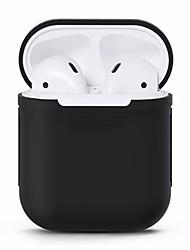 Недорогие -Защитный чехол для Airpods Простой Цветной Apple Airpods Противоударное покрытие Скретч-доказательство Силиконовые