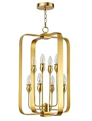 cheap -QIHengZhaoMing 8-Light 35 cm Chandelier Metal Candle-style Brass / Electroplated Chic & Modern 110-120V / 220-240V