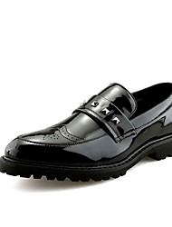 cheap -Men's Dress Shoes Leather Summer / Fall Oxfords Black / Gold / Outdoor / Comfort Shoes