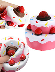 cheap -LT.Squishies Squeeze Toy / Sensory Toy Stress Reliever Holiday Fairytale Theme Romance Stress and Anxiety Relief Office Desk Toys Relieves ADD, ADHD, Anxiety, Autism 1 pcs Classic Fruits Pattern