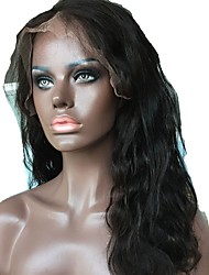 cheap -Human Hair Unprocessed Human Hair Lace Front Wig Middle Part Side Part style Brazilian Hair Wavy Natural Wig 130% Density with Baby Hair Natural Hairline For Black Women 100% Hand Tied Bleached Knots