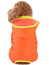 cheap -Dog Rain Coat Dog Clothes Orange Yellow Green Costume Baby Small Dog Nylon Solid Colored Waterproof XS S M L XL XXL