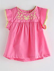 cheap -Toddler Girls' Solid Colored Jacquard Sleeveless Cotton Blouse Blushing Pink