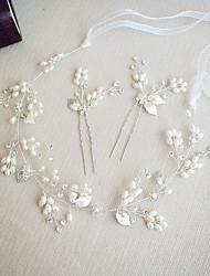 cheap -Imitation Pearl / Rhinestone Headbands / Hair Pin / Suits with Rhinestone / Imitation Pearl 3 Pieces Wedding / Party / Evening Headpiece