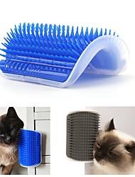 Недорогие -Собаки Коты Щетки пластик Щетки Простота установки На каждый день Синий