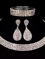 cheap -Women's Jewelry Set Bridal Jewelry Sets Tennis Chain Elegant European Fashion Earrings Jewelry Silver For Wedding Anniversary Party Evening Gift Engagement 1 set