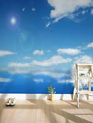 cheap -Custom Blue Sky 3D Large Wall Covering Mural Wallpaper Fit Bedroom Bedroom Flower