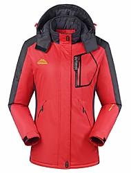 cheap -Women's Hiking Jacket Winter Outdoor Windproof Breathable Rain Waterproof Waterproof Zipper Winter Jacket Top Camping / Hiking Climbing Cycling / Bike Purple Light Green Fuchsia M L XL XXL XXXL