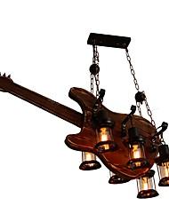 Недорогие -JLYLITE 6-Light 56 cm Мини Люстры и лампы Дерево / бамбук Стекло Окрашенные отделки Деревенский стиль / Художественный 110-120Вольт / 220-240Вольт