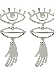 cheap -Drop Earrings Eyes Ladies Fashion Earrings Jewelry Gold / Silver Hamsa Hand For Gift Date