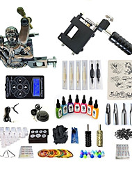 cheap -BaseKey Tattoo Machine Starter Kit - 1 pcs Tattoo Machines with 7 x 15 ml tattoo inks, Professional Level, Professional Alloy LCD power supply Case Not Included 20 W 1 rotary machine liner & shader