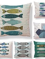cheap -6 pcs Textile Cotton / Linen Pillow case, Geometric Simple Printing Art Deco / Retro