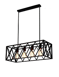 cheap -Vintage Industrial Metal Pendant Lights 4-Light Living Room Dining Room Kitchen Cafe Hanging Lighting Fixture