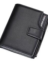 cheap -Men's Zipper PU Leather Wallet Black / Blue / Coffee