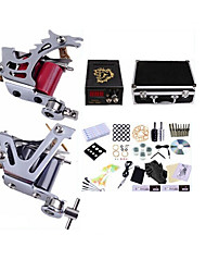 cheap -BaseKey Professional Tattoo Kit Tattoo Machine - 2 pcs Tattoo Machines, High Speed / Professional Alloy 17 W LCD power supply 2 steel machine liner & shader / Case Included
