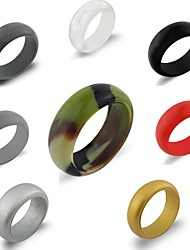 cheap -Silicone Rings Singles Wedding Bands Style Ideal Affordable Non Toxic Workout Comfortable Safety Yoga Exercise & Fitness Travel For Unisex