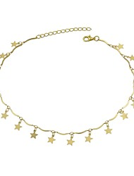 cheap -Women's Choker Necklace Star Ladies Alloy Gold 36 cm Necklace Jewelry For Party / Evening School