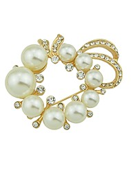 cheap -Women's Pearl Brooches Flower Ladies Basic Fashion Brooch Jewelry Gold For Daily Date