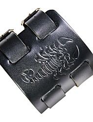 Недорогие -Муж. Кожаные браслеты скорпион Камни Кожа Браслет Ювелирные изделия Черный / Коричневый Назначение Для улицы Для клуба