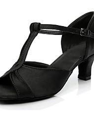 cheap -Women's Dance Shoes Silk Latin Shoes Heel Customized Heel Customizable Black / Indoor / Practice
