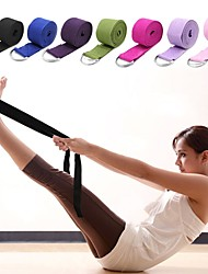 Недорогие -Йога-ремень текстильный Стрейч Прочный Регулируемая D-образная пряжка Физиотерапия растягивание Улучшение гибкости Йога Пилатес Аэробика и фитнес Для Универсальные