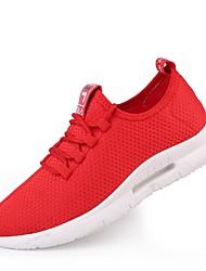 abordables -Homme Chaussures de confort Filet / Tulle Eté Basket Course à Pied / Tennis / Marche Noir / Blanche / Rouge / De plein air / Semelles légères