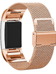 cheap -Smart Watch Band for Fitbit 1 pcs Milanese Loop Stainless Steel Replacement  Wrist Strap for Fitbit Charge 2