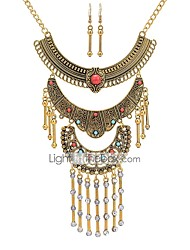 cheap -Jewelry Set Ethnic Earrings Jewelry Gold / Silver For Ceremony Carnival