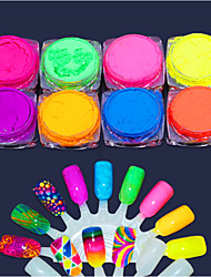 cheap -8pcs Artificial Nail Tips Tool Bag For Art Supplies nail art Manicure Pedicure Glamorous Glitter
