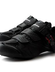 cheap -Tiebao® Road Bike Shoes Carbon Fiber Anti-Slip Cycling Black Men's Cycling Shoes / Breathable Mesh / Hook and Loop