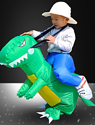 cheap -Dragon Riding A Dinosaur Inflatable Costume Kid's Boys' Festival / Holiday PVC (Polyvinylchlorid) Red / Cyan Carnival Costumes