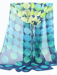 cheap -Women's Polyester Rectangle Scarf - Polka Dot Mesh / Cute