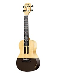 cheap -Ukulele USB Charging Output intelligent Wooden String Instruments 23 inch Populele Professional Musical Instrument for Beginners and Youths Students