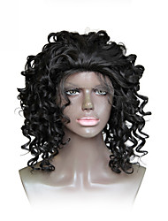 cheap -Synthetic Wig Curly Bob Lace Front Wig Short Black#1B Synthetic Hair Women's Heat Resistant African American Wig For Black Women Black