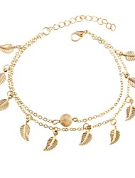 cheap -Women's Charm Bracelet Leaf Ladies Fashion Alloy Bracelet Jewelry Gold / Silver For Daily Going out