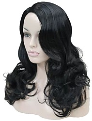 cheap -Synthetic Wig Curly Side Part Wig Long Light golden Light Brown Chestnut Brown Jet Black Red Synthetic Hair Women's African American Wig Black Blonde StrongBeauty