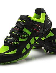 cheap -Tiebao® Mountain Bike Shoes Carbon Fiber Anti-Slip Cycling Green / Black Men's Cycling Shoes / Breathable Mesh / Hook and Loop