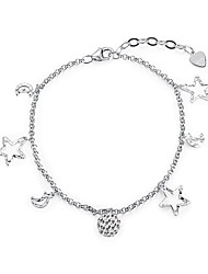 cheap -Women's Chain Bracelet Star Galaxy Ladies Fashion S925 Sterling Silver Bracelet Jewelry Silver For Gift Daily