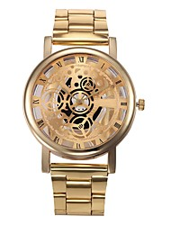cheap -Men's Dress Watch Quartz Stainless Steel Gold 30 m Chronograph Analog Classic Casual - Gold Silver One Year Battery Life / SSUO LR626