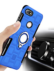 cheap -Case For Huawei P9 lite mini Shockproof / with Stand Back Cover Solid Colored Hard PC