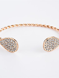 cheap -Women's Cubic Zirconia tiny diamond Cuff Bracelet Drop Ladies Simple Fashion Zircon Bracelet Jewelry Gold / Silver For Daily Going out