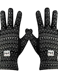 cheap -Full Finger Gloves Women's Breathable Warm Wearable Golf Glove Terry Black Outdoor Exercise / Winter