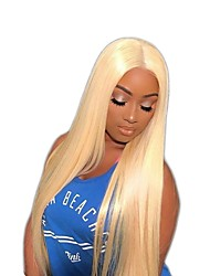 cheap -Virgin Human Hair Full Lace Wig Minaj style Brazilian Hair Straight Blonde Wig 150% Density with Baby Hair Women's Short Medium Length Long Human Hair Lace Wig Premierwigs / Mina Style