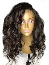 cheap -Remy Human Hair Lace Front Wig Layered Haircut style Brazilian Hair Wavy Black Wig 130% Density with Baby Hair Natural Hairline For Black Women Women's Short Human Hair Lace Wig Aili Young Hair